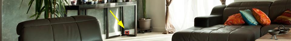 Umístění plašiče-odpuzovače Deramax-Profi v obývacím prostoru