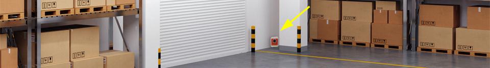 Umístění plašiče-odpuzovače Deramax-Profi ve skladu
