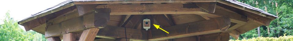 Umístění plašiče-odpuzovače Deramax-Trap ve venkovním prostředí